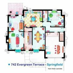 1000 images about blueprints on pinterest house for Simpsons house floor plan