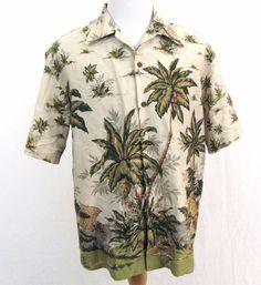 Reyn Spooner Hawaiian Shirt Large Egyptian Cotton Island Fisherman Coconut Aloha #ReynSpooner #Hawaiian