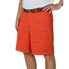 University of Virginia UVA Cavaliers Orange Stadium Shorts