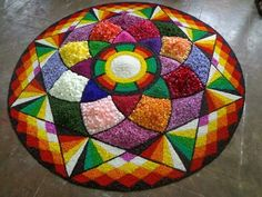 Rangoli Photos, Rangoli Ideas, Rangoli Designs Diwali, Diwali Rangoli, Easy Rangoli, Simple Rangoli Designs Images, Kolam Designs, Onam Pookalam Design, Rangoli Colours