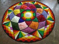 Rangoli Photos, Rangoli Ideas, Rangoli Designs Diwali, Diwali Rangoli, Easy Rangoli, Simple Rangoli Designs Images, Kolam Designs, Onam Pookalam Design, Mandalas