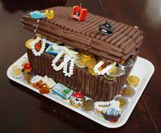 Il forziere dei pirati! Torta di compleanno super-cioccolatosa