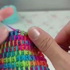 Knitting Pattern, Knitting with Kids, knit dollhouse purse, Finger Knitting Scarf, Free Knit & Crochet Scrunchies Patterns – Savlabot Tunisian Crochet Patterns, Crochet Patterns For Beginners, Crochet Stitches, Knitting Patterns, Knit Crochet, Sewing Patterns, Crochet Crafts, Yarn Crafts, Crochet Projects
