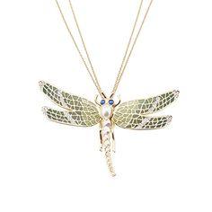 Deco Dragonfly Pendant Necklace by Jeremy Tosh l £100 l V&A Shop #Christmas #Jewellery