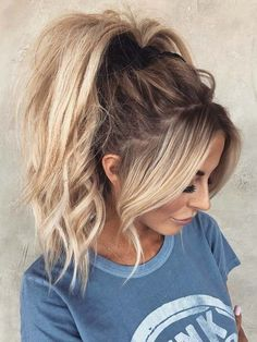 Stunning High Ponytail Hairstyles Trends to Wear in 2018 Dream Hair, Cute Ponytail Hairstyles, Girl Hairstyles, Ponytail Styles, Trending Hairstyles, Bob Hairstyle, Hair Looks, Messy High Ponytails, Cute Ponytails
