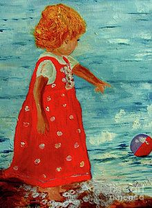 Painting - Girl With The Ball by Inna Montano