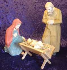 Huggler Nativity Woodcarving - made in Switzerland