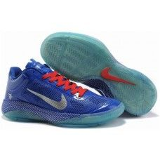New nike zoom hyperfuse xdr low blue/silver-logo shoes