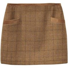 Women's Joules Carole Tweed Mini Skirt (99 AUD) ❤ liked on Polyvore featuring skirts, mini skirts, joules skirts, short skirts, short brown skirt, tweed skirt and long skirts