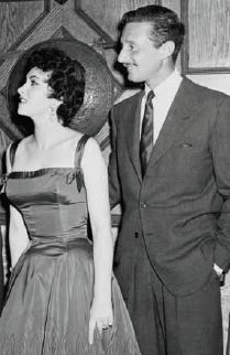 Oleg Cassini has dressed many a Hollywood starlet. Pictured here with Gina Lollobrigida in taffeta and Oleg Cassini in tweed.