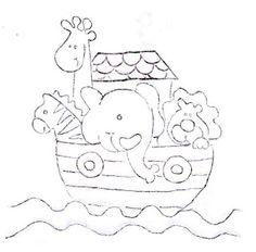 risco fralda bebe infantil arca de noé