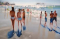 The Sea: Beautiful oil paintings that look like blurred photographs of beach life | Creative Boom