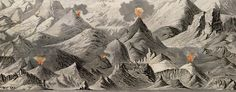 Goujon's #map of comparative #mountain heights (1850) — http://www.bigmapblog.com/2012/goujons-comparative-mountain-heigths-1850/
