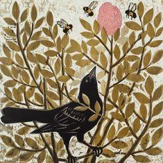 ✽   'on the hunt' - kent ambler -  woodcut