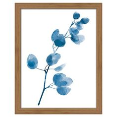 This watercolor framed 2pk Indigo Apple Branch design 11x14 ea, ready to hang is a true beauty of its own and is sure to bring a splash of nature to your look!