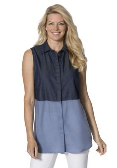 Denim tank Stylish and cool.  Plus Size Fashion from Woman Within.