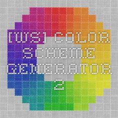 [ws] Color Scheme Generator 2 Генератор цвета