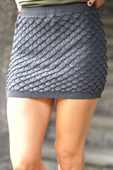 On A Scale Skirt: Charcoal Grey