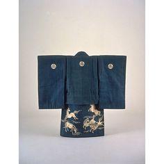 Child kimono with Running Horses on Indigo Ground Period, Meiji Period, Kyoto National Museum
