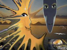 lovers moon sun amoureux du soleil lune original backgrounds, painting,digital art by tonydanis GREECE HELLAS fantasy fantasia animation imagination gif peace love 3d Animation, Peace And Love, Imagination, Greece, Digital Art, Backgrounds, Lovers, Magic, Sun