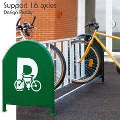 Support cycles 16 places - Acier galvanisé - Design ProCity