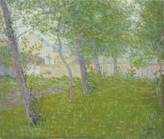 Garden by the house   -     Gustave Loiseau   1898  French  1865-1935  Oil on canvas