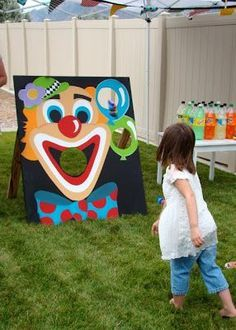 circus kids party games - circus kids party ` circus kids party ideas ` circus kids party games ` circus kids party decorations ` circus kids party food ` circus kids party theme ` kids circus birthday party ` circus party games for kids Clown Party, Circus Party Games, Circus Carnival Party, Kids Carnival, School Carnival, Carnival Birthday Parties, Circus Birthday, Birthday Party Themes, Circus Game
