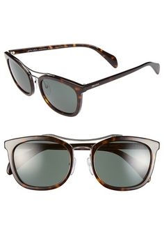 891e71de3ed Free shipping and returns on Prada 55mm Sunglasses at Nordstrom.com. A  metallic double