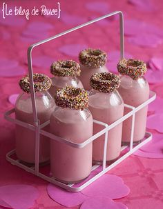 Milkshake à la fraise façon Michalak - Le blog de Pouce