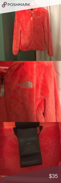 Orange North Face Zip Up Jacket Very Warm and Comfy Orange North Face Zip Up Jacket! The North Face Jackets & Coats