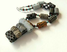 beads from fabric - very cute