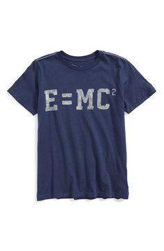 Free shipping and returns on Peek 'E=MC2' Graphic Tee (Toddler Boys, Little Boys & Big Boys) at Nordstrom.com. Weathered graphics display Albert Einstein's theory of relativity on the front of a short-sleeve T-shirt that's perfect for your budding physicist.