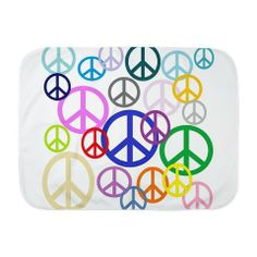 Peace Sign Collage Baby Blanket (x2)