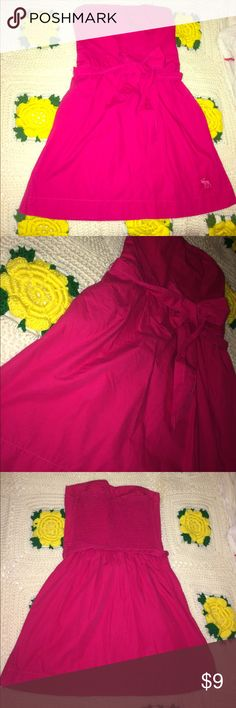 Abercrombie Sundress Adorable pink Abercrombie and fitch Sundress. Size medium, fits a small in my opinion. In overall good condition. No true signs of wear that I can find. Feel free to ask questions and make offers :) Abercrombie & Fitch Dresses Mini