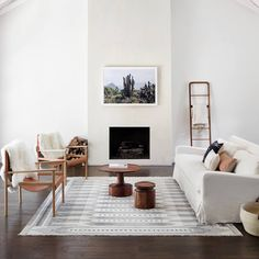 These 10 minimalist living room decor ideas will inspire you to clear the clutter and make your living space classic, clean and even more homely! Living Room Designs, Living Room Decor, Living Spaces, Nordic Living Room, Small Living, Scandinavian Interior Living Room, Room Interior, Bedroom Minimalist, Minimalist Fireplace