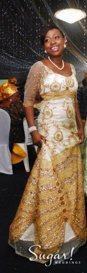 Nigerian Bride, MyQ, Self-Designed Wedding Dress