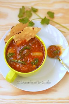 Tomato and pear paired with Indian spice to make this delicious soup.