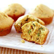 Scharfe Polenta Muffins