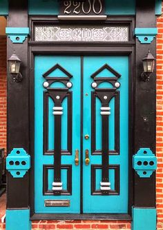 I see nutcrackers, don't you? Fabulous door in Butcher's hill.