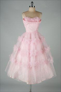 1950s' pink & silver dress