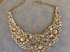 Wedding necklace, bridal necklace, Rose gold necklace, bib necklace, Rose gold wedding, wedding jewelry