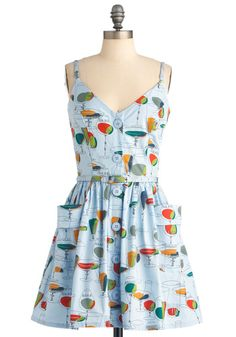 Be the life of the summer party in this literal take on the cocktail dress. Modcloth - Styled, Not Stirred Dress $75.