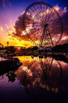 Sunset in Kasai, Tokyo, Japan Beautiful Sky, Beautiful Landscapes, Beautiful World, Beautiful Places, Landscape Photography, Nature Photography, Cool Pictures, Beautiful Pictures, Great View