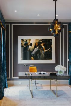 re:pin BKLYN contessa :: dark walls + white trim + light floors & rug   for master bedroom