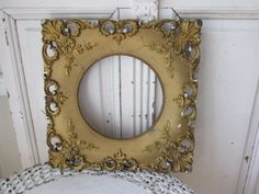 Would be amazing if it were a mirror and this was wood and ornate wooden pieces.
