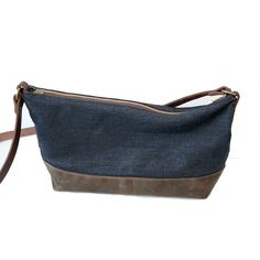 Overlap Sewing Studio Denim & Waxed Canvas Purse