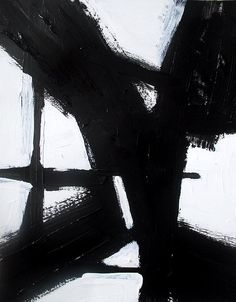 Brian Elston . abstract black and white modern minimalist painting