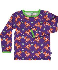 Smafolk adorable purple T-shirt with sweet deers. smafolk.en.emilea.be
