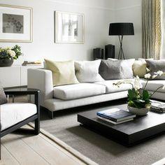 transitional living room by Laura Hammett Ltd