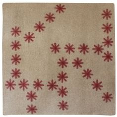 Crystal cranberry 7'x7'  Felted wool rugs. Yum. shop.peaceindustry.com